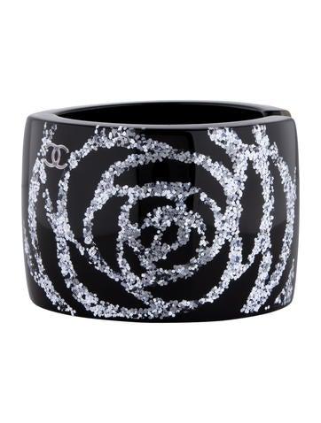Chanel Glitter Camellia Cuff
