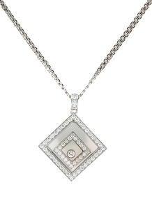 Chopard Happy Spirit Square Diamond Necklace