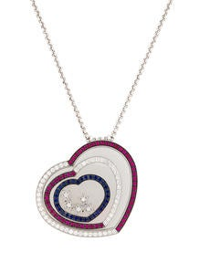 Chopard Happy Spirit Sapphires, Rubies, and Diamonds Necklace