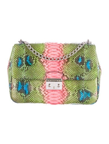 Christian Dior Miss Dior Large Hand-Painted Python Flap