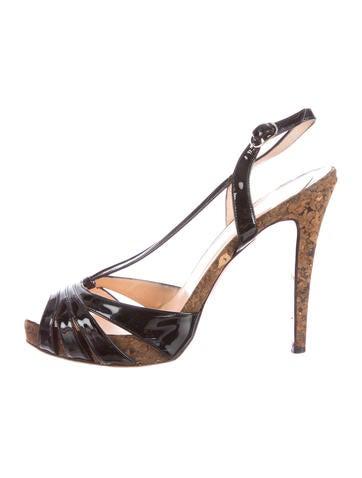 Christian Louboutin Patent sandalen