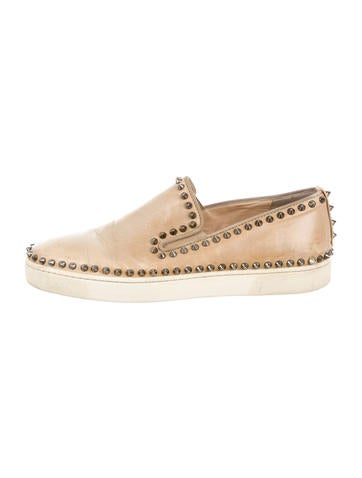 Christian Louboutin Pik Boat Spiked Sneakers