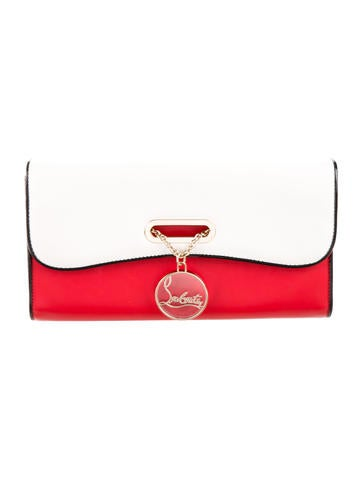 Christian Louboutin Leather Riviera Clutch None