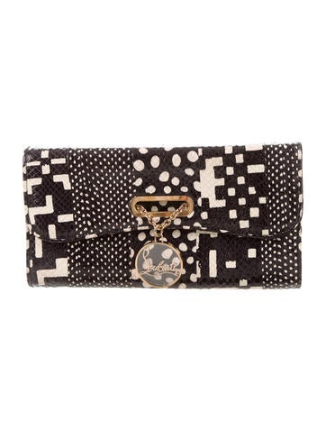 Christian Louboutin Embossed Riviera Clutch None
