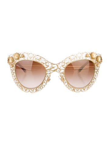 Dolce & Gabbana Cat-Eye Filigree Sunglasses