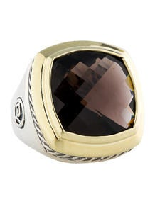 David Yurman 18k Gold & Sterling Silver Smoky Quartz Albion Ring