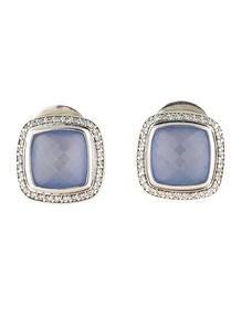 David Yurman Albion Amethyst and Diamond Earrings