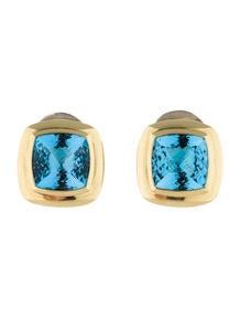 David Yurman Blue Topaz Albion Earrings