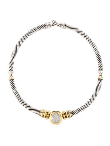 David Yurman 1.00ctw Diamond Cable Necklace