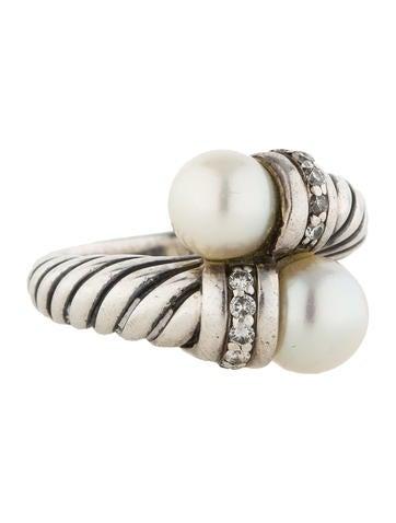 David Yurman Pearl and Diamond Ring