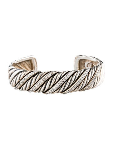 David Yurman Sculpted Diamond Cuff