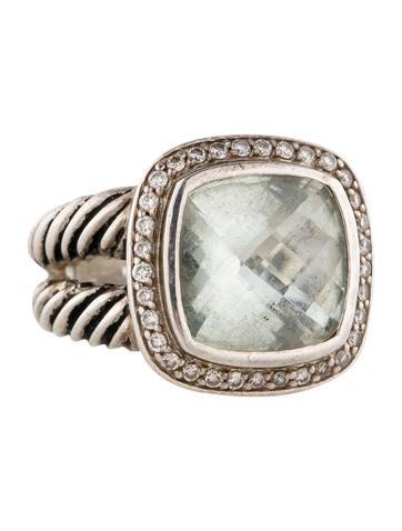 David Yurman Prasiolite en Diamond Albion Ring