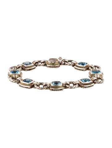 David Yurman Blue Topaz Link Bracelet