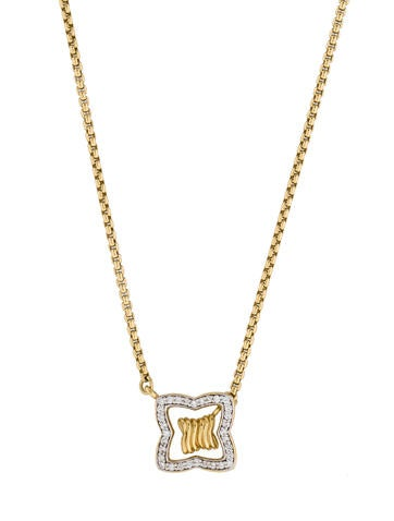 David Yurman 18K Diamond Lariat Necklace