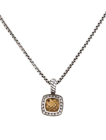 David Yurman Citrine and Diamond Necklace