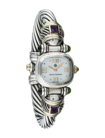 David Yurman Amethyst & Tourmaline Quartz Watch