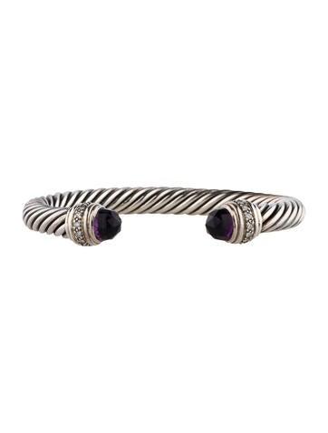 David Yurman Amethyst and Diamond Bracelet