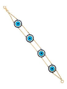 Sapphire & Diamond 'Evil Eye' Bracelet