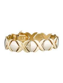 Two-Tone 'XO' Bracelet