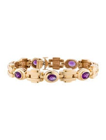 8.75ctw Amethyst Link Bracelet