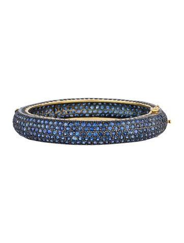 20ctw Pavé Sapphire Bangle Bracelet