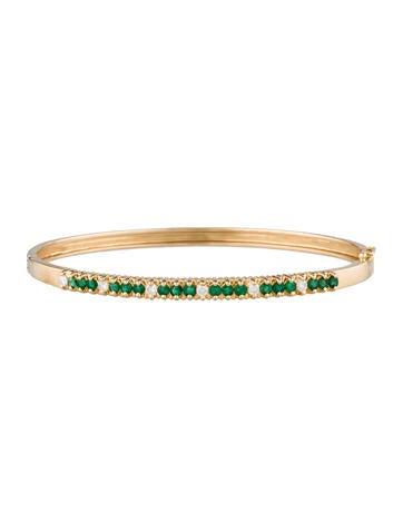 1.08ctw Emerald & Diamond Bracelet