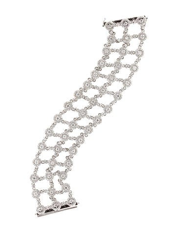 7.60ctw Diamond Halo Bracelet