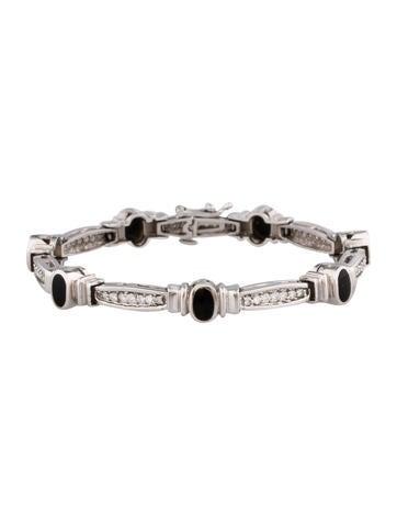 1.68ctw Diamond & Enamel Link Bracelet