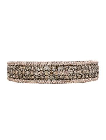 14.92ctw Champagne and Diamond Bracelet