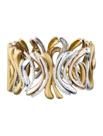 18K Tri-Color Gold & Diamond Bracelet