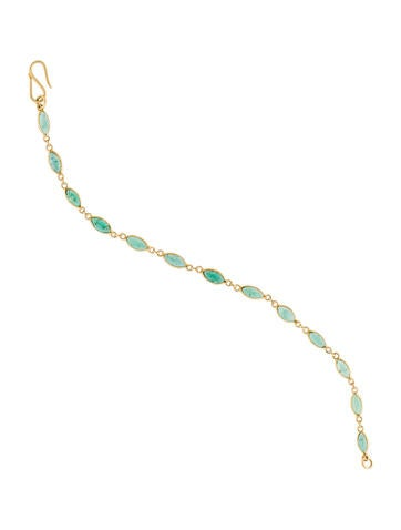 22K Emerald Link Bracelet