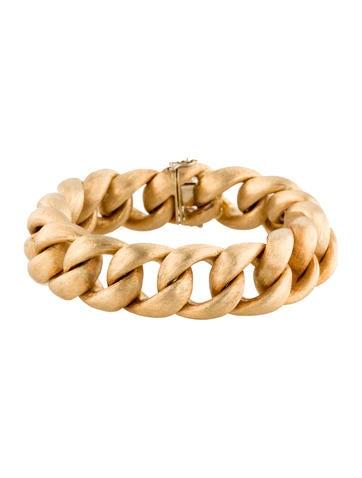 18K Brushed Link Bracelet