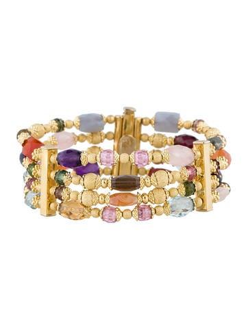 18K Multi-Gemstone Bracelet