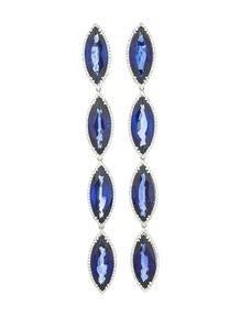62.05ctw Sapphire & Diamond Earrings