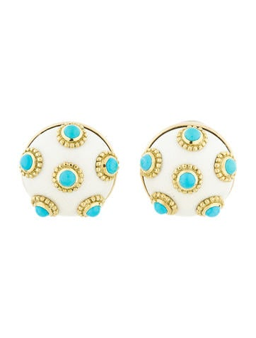 Ivory and Turquoise Earrings