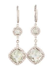 Diamond and Amethyst Drop E...
