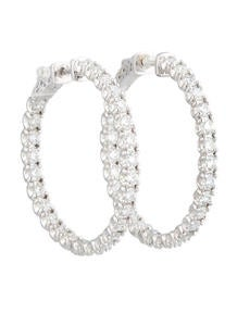 Inside Out Diamond Hoops 4.74ctw