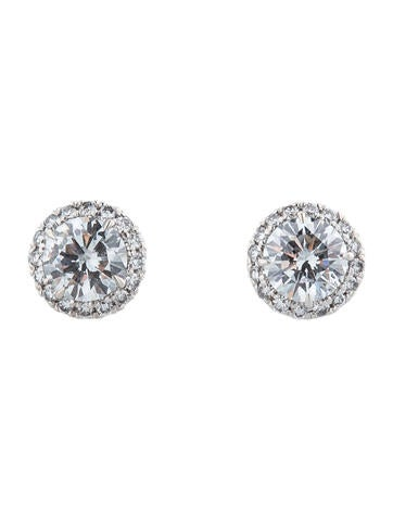 Diamond Halo Earrings 0.69ctw