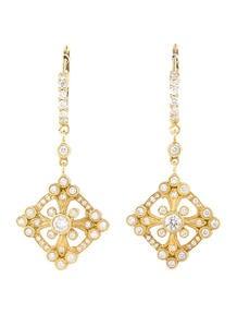 18k Gold Diamond Drop Earrings 1.00ctw