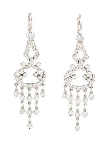2ctw Diamond Chandelier Earrings