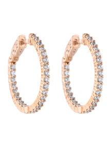 1.00ctw Inside Out Diamond Hoop Earrings