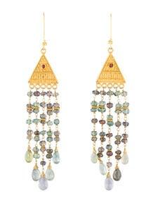 Sapphire Pyramid Earrings