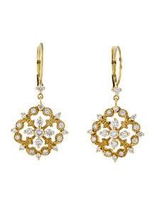 1.00ctw Snowflake Diamond Drop Earrings