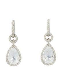 6.3ctw Quartz & Diamond Drop Earrings