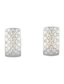 Quilted Diamond Huggie Earrings