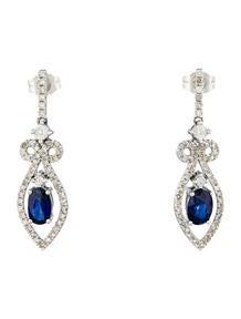 1ctw Sapphire & Diamond Drop Earrings