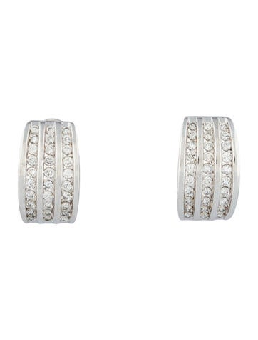 1.2ctw Diamond Huggie Earrings