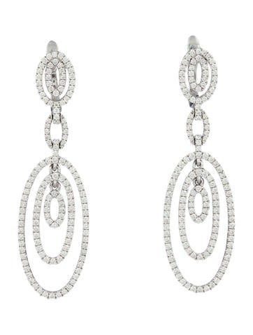 1.57ctw Diamond Drop Earrings