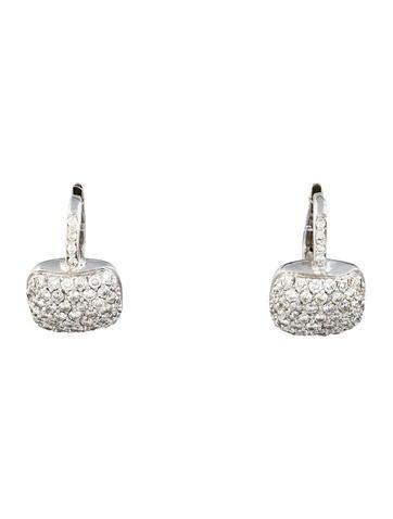 1.5ctw Pavé Diamond Earrings