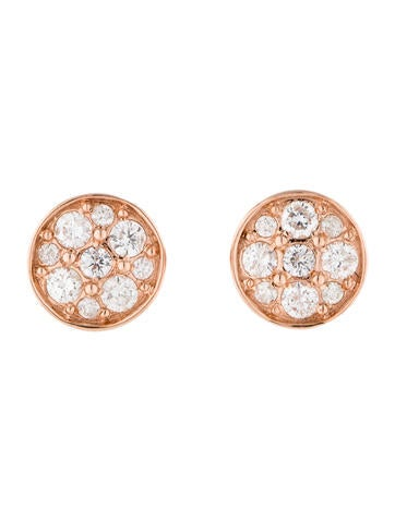 1.01ctw Diamond Cluster Earrings